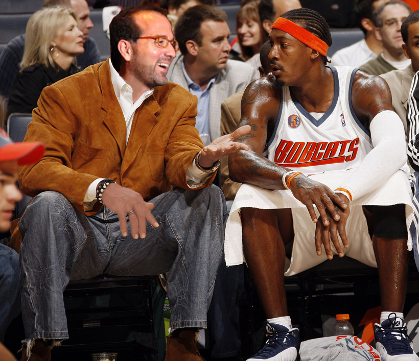 Postolos giving Gerald Wallace financial advice