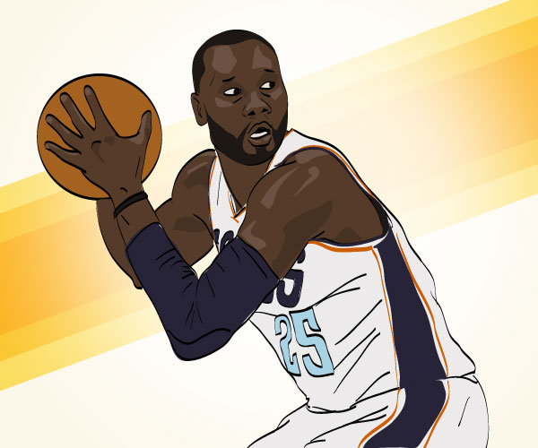 Al Jefferson illustration by Mike S