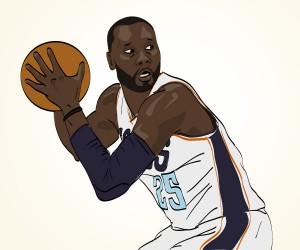 Al Jefferson illustration by Mike S.